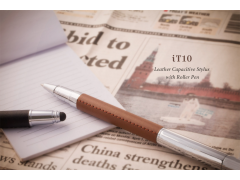 iT10 電容式觸控皮革筆 (2 in 1 Leather Capacitive Stylus with Roller pen)