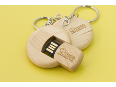 W300 圓型木質隨身碟|Rounded Wooden Flash Drive|