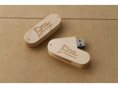 W100 木質旋轉隨身碟(Wooden Swivel Flash drive)