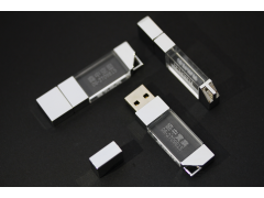 S1000 薄型金屬蓋水晶碟:鑰匙圈 (Crystal Style USB Flash Drive with Metal Cover)